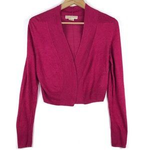Michael Kors Cropped Knit Cardigan Sweater Petite